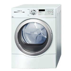 DLX White Front-loader Dryer 6.7 cubic feet with EcoSmart Sensors and WrinkleBlock Option