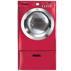Red Front-Load Washer 3.5 Cu. Ft. Capacity Featuring Energy Saver and NSF Certified