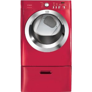 Red with Ultra-Capacity Dryer Express-Select Controls