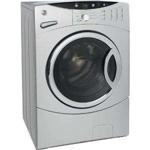 Ge Wcvh4815kms Frontload Washer Metallic Silver 2 6 Cu Ft