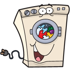 cartoon washing machine
